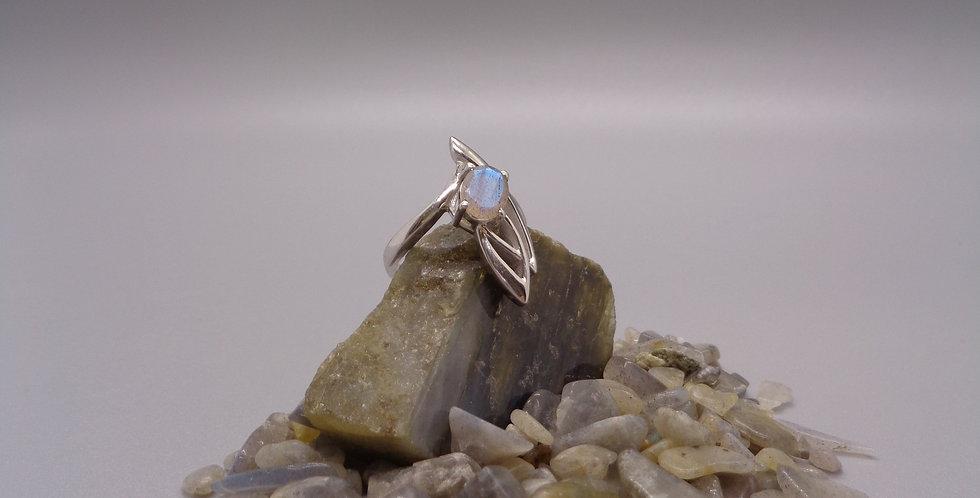Winged Labradorite Ring