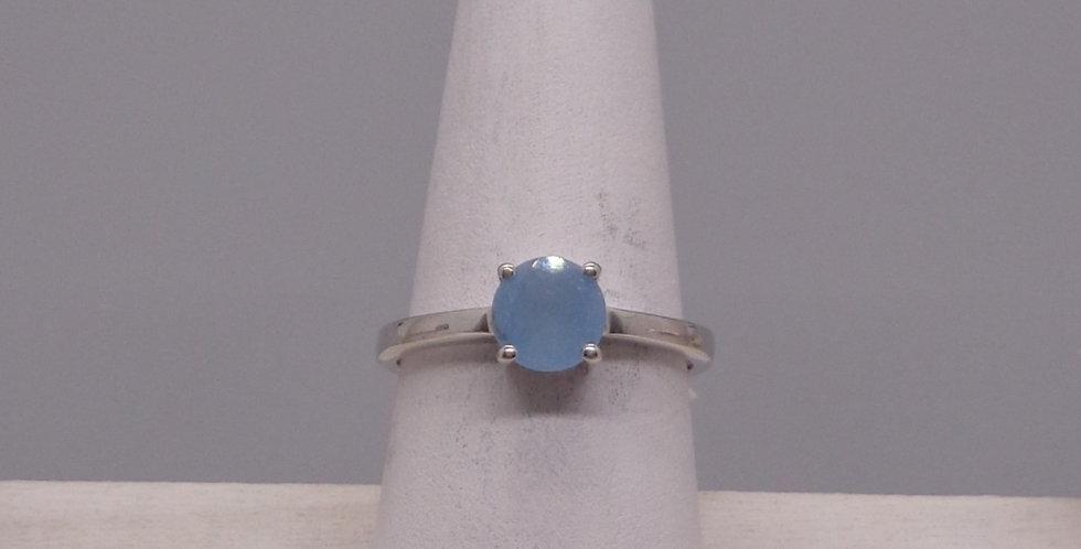 Blue Aquamarine Ring