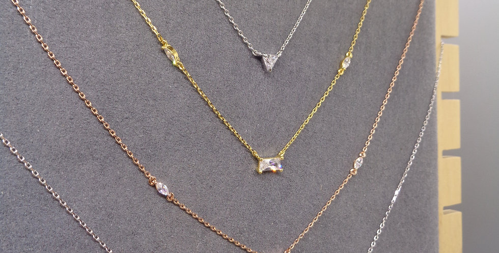 Cosmic Trinity Crystal Necklace