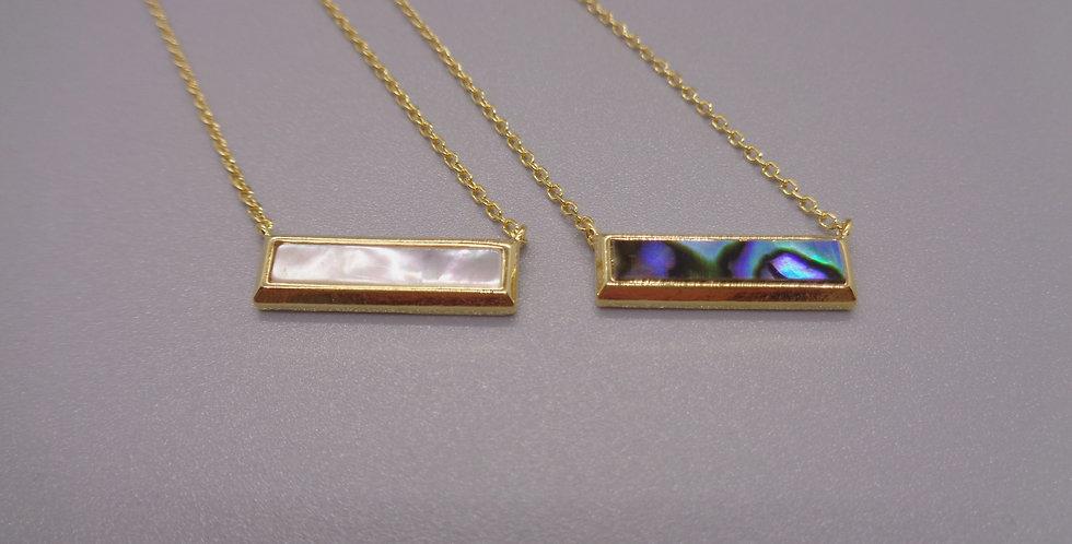 Sea Shell Bar Necklace