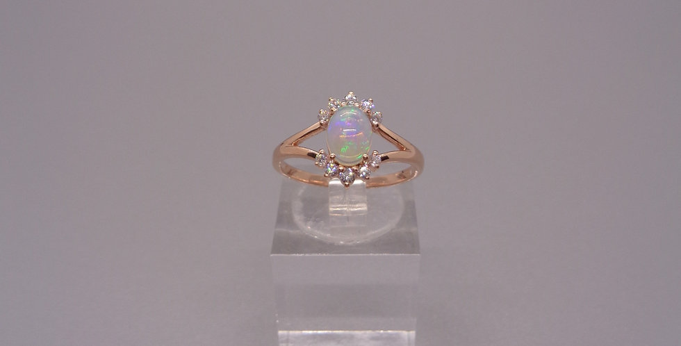 All Seeing Opal Eye Ring