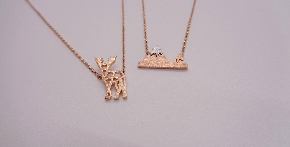 Rose Gold Sunrise Necklace