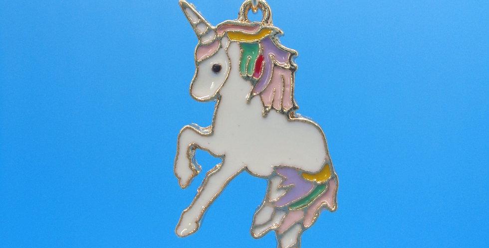 Enameled Unicorn Necklace