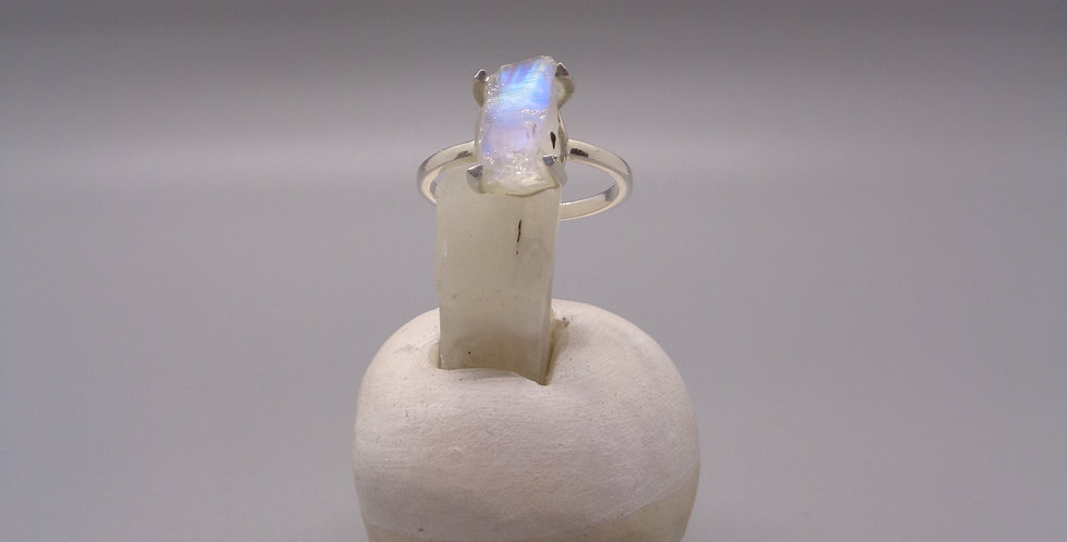 Rough Cut Moonstone Ring