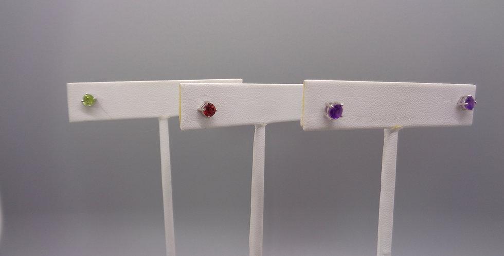 Jewel Toned Sweet Stud Earrings