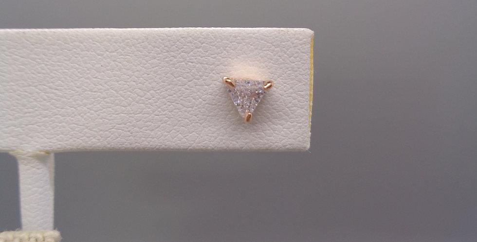 Triangle Crystal Stud Earrings