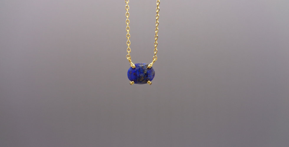 Lapis Oval Necklace