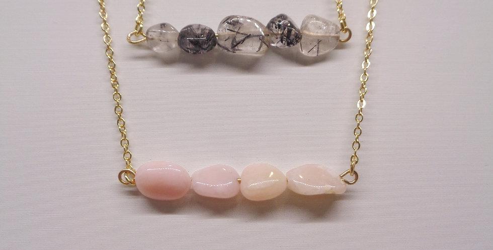 Multi-Gem Bar Necklace