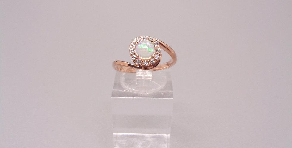 Circling Bands Opal Ring