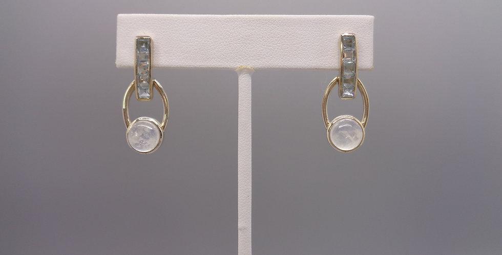 Topaz Moon Drop Earrings
