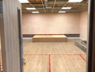 Squash Court conversion update!