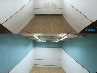 Squash Court Refurbishment Completed