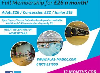 Membership Prices Reduced!!