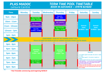 New Timetables - 03/04/21