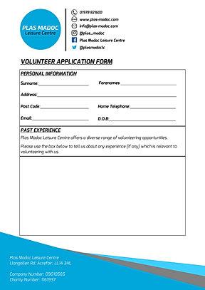 volunteering application form