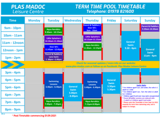 New Timetables - 01/09/2021