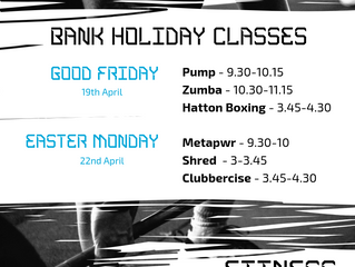 BANK HOLIDAY CLASSES