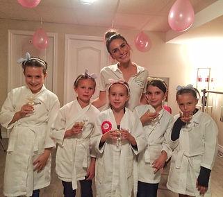 Spa girl tween party