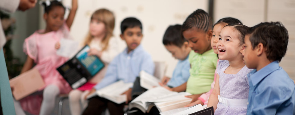 Children Reading the Holy Bible