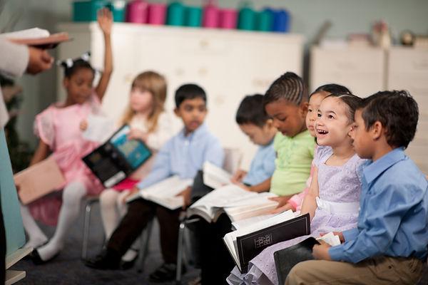 Crianças, leitura, santissimo, bíblia