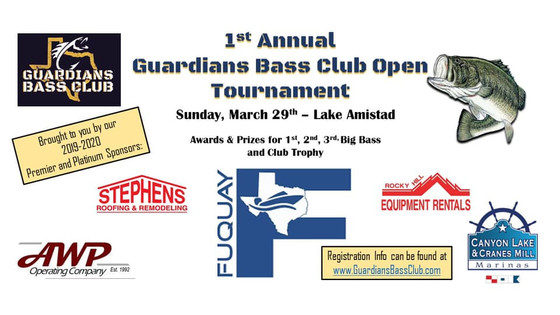 1st Annual GBC Open To Be Held On Lake Amistad