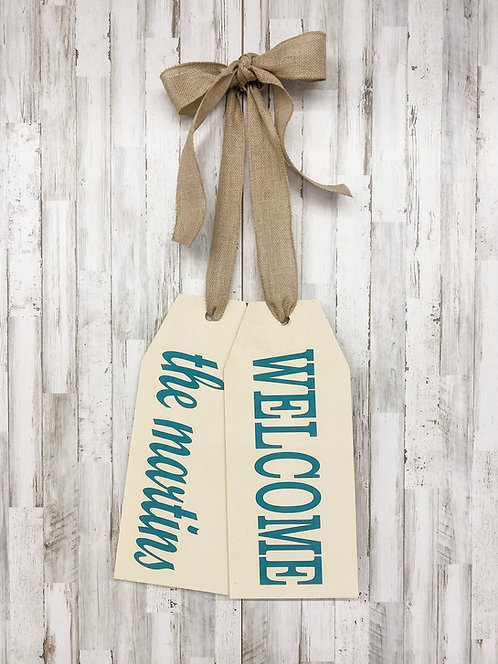Door Tags - Welcome with Family Name