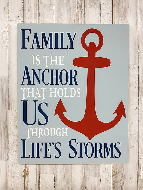 Family Is The Anchor Sign