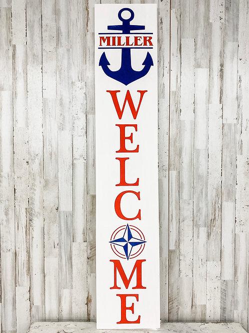 Porch Sign - Welcome Anchor
