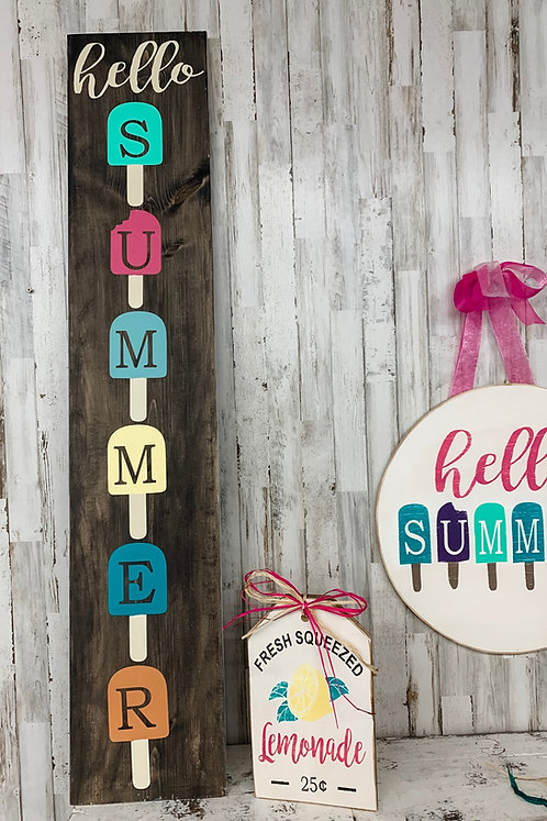 Porch Sign - Summer Popsicles