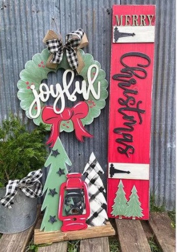 Porch Sign - Merry Christmas 3D