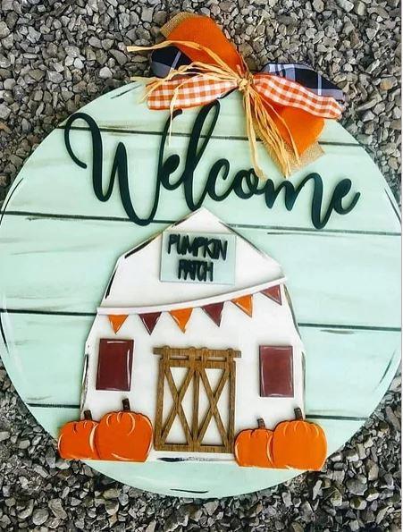 Door Hanger - Welcome Pumpkin Patch