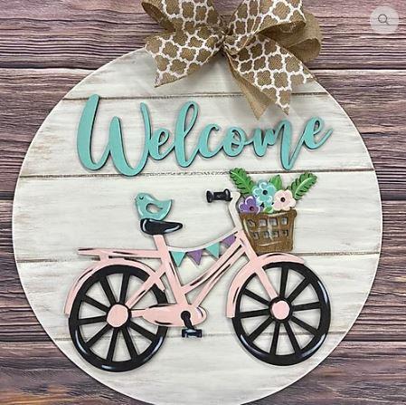 Door Hanger - Welcome Bicycle