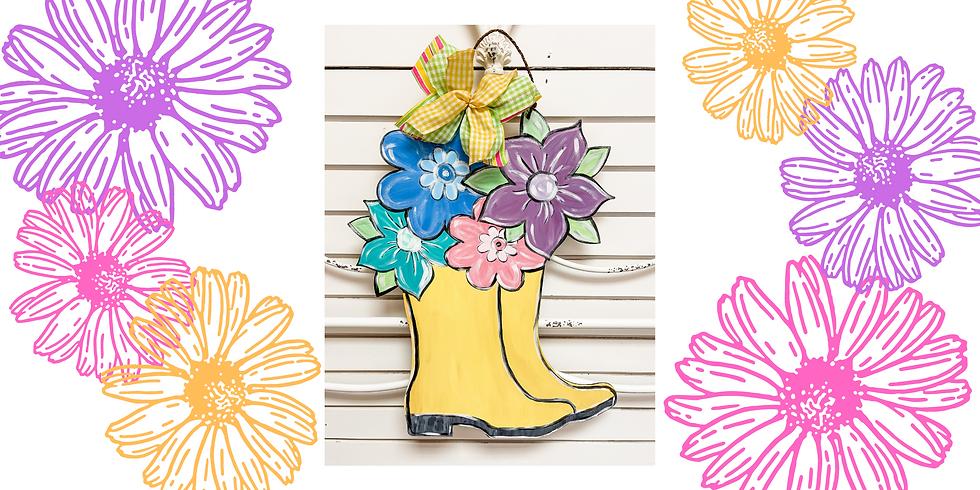 Spring Rain Boots Door Hanger Workshop