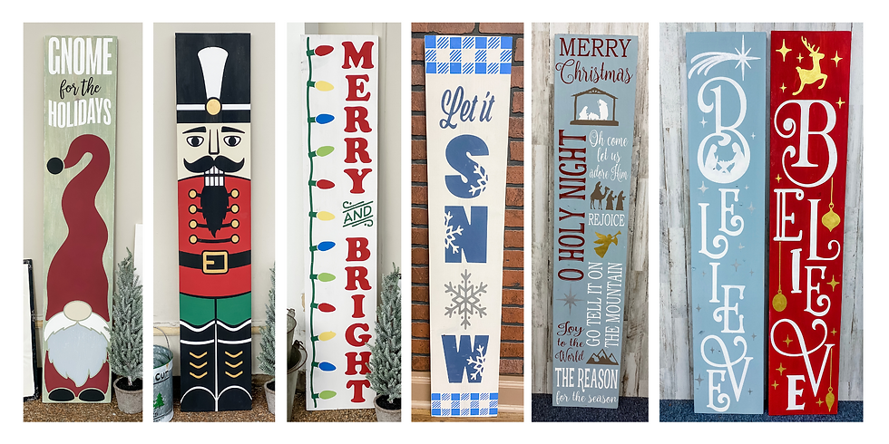 Christmas Porch Sign Workshop SPECIAL!