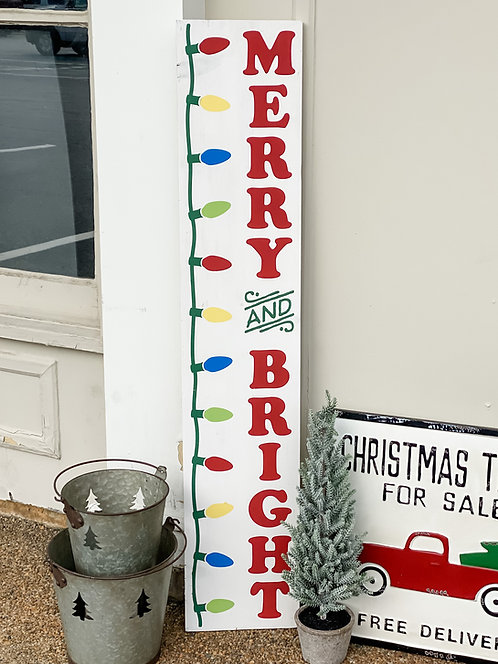 Porch Sign - Merry & Bright