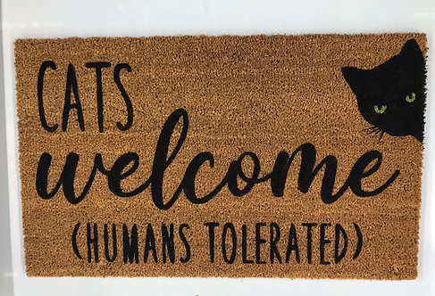 Cats / Dogs Welcome Door Mat