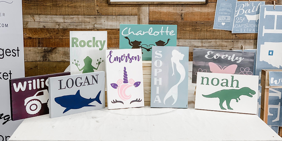 Kids Name Sign Project