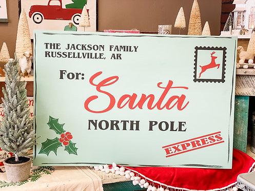 Oversized Sign - Letter to Santa