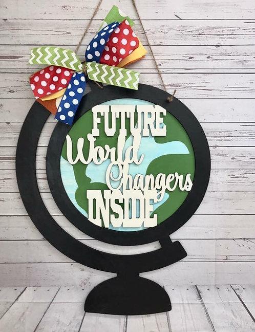 Door Hanger - World Changers Globe