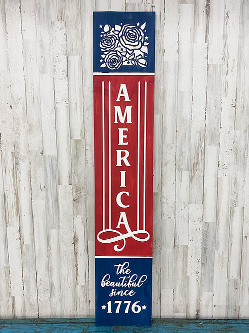 Porch Sign - America the Beautiful