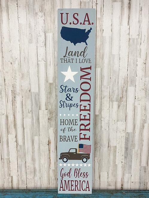 Porch Sign - Patriotic Symbols