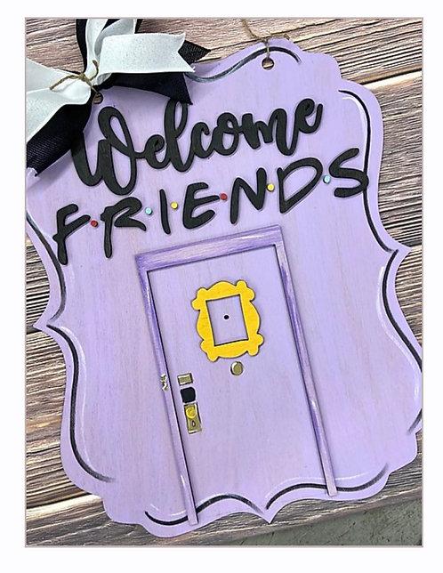 Door Hanger - Welcome FRIENDS