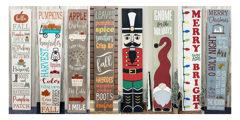 Fall and Christmas Porch Signs