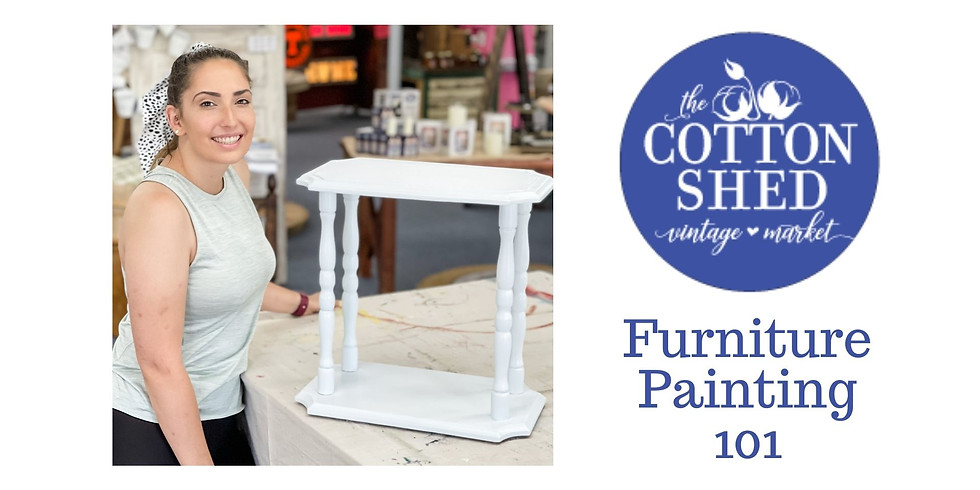 Furniture Painting 101 Workshop ~ The Cotton Shed