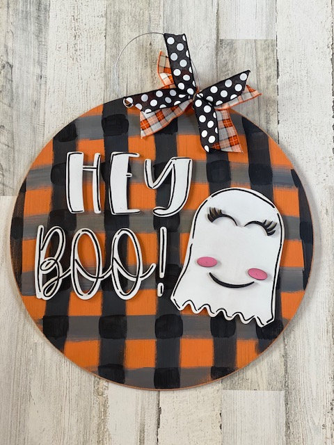 Door Hanger - Hey Boo!