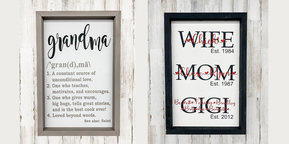 Mother's Love Framed Signs
