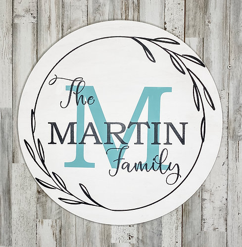 Round Project - Family Name & Initial