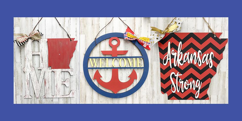 Arkansas and Anchor Door Hangers