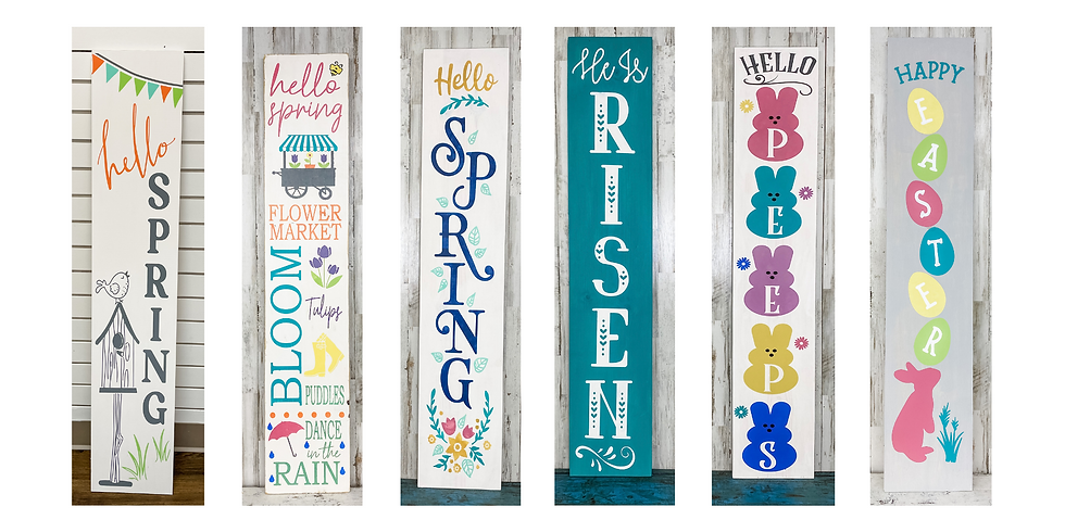 Spring & Easter Porch Signs - SPECIAL OFFER!