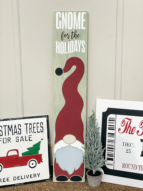 Porch Sign - Gnome for the Holidays